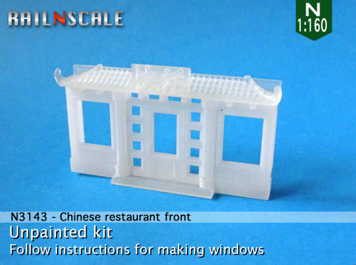 Chinese restaurant front (N 1:160) 3d printed