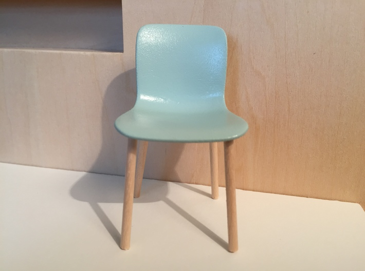 1:12 Chair hardshell - seat only 3d printed