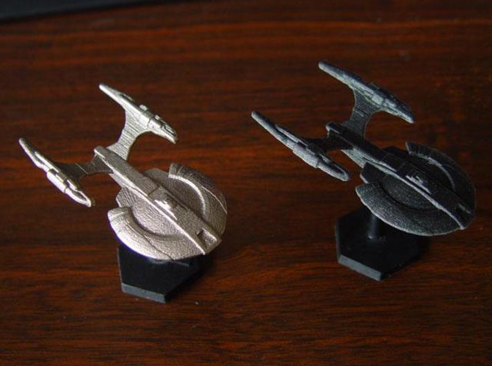 Xuvaxi Adjudicator 3d printed Xuvaxi Adjudicator in Steel and Black Detail.