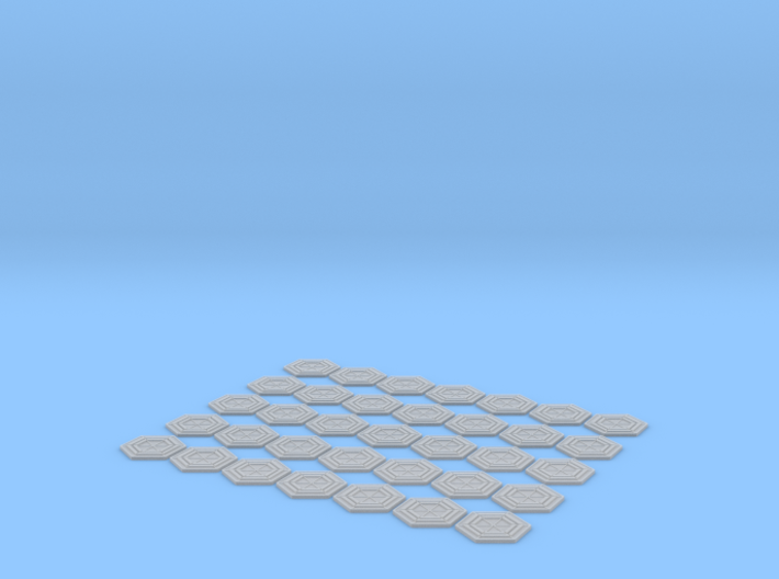 VALLEY FORGE HEXAGON SET 3d printed