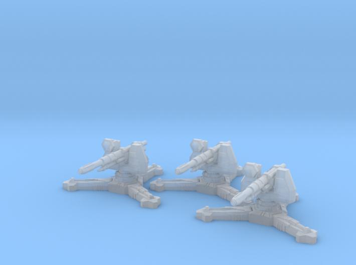 6mm Sci-Fi Antitank Guns (3pcs) 3d printed