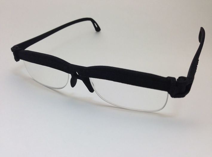 Cheater Prescription or Reading Glasses 3d printed Re-use reading glass lenses.