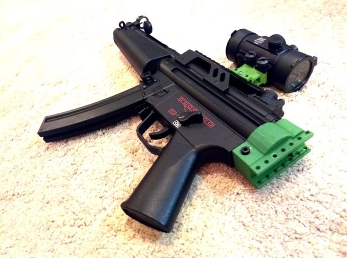 MP5 AEG Receiver Picatinny Mount Adapter 3d printed