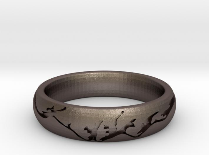 Men's Wedding Ring - Mountain Engraved 3d printed