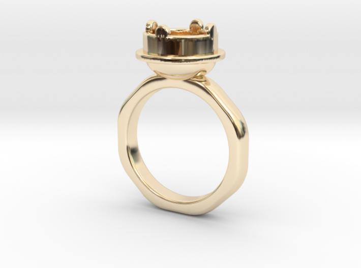 Ring Halkida - Round 3d printed