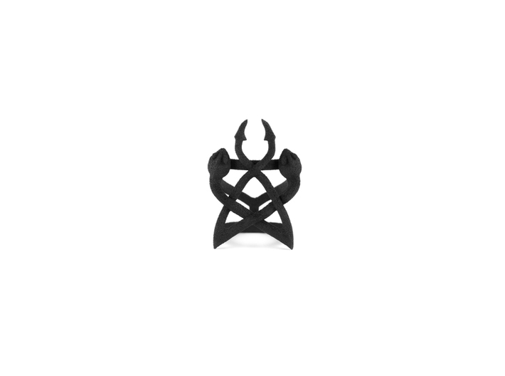 Serpent Synergy Ring 3d printed
