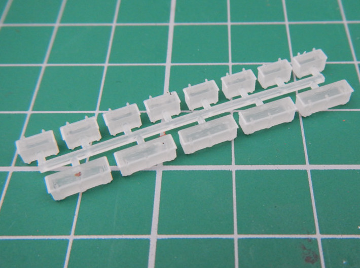 PRR - CR Cab Signal Boxes 3d printed Printed sprue