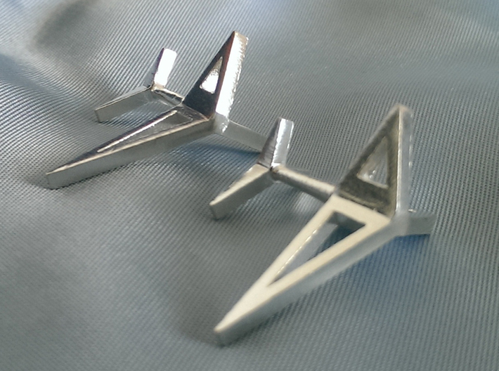 YOUNIVERSAL Origami 3T Cufflinks 3d printed