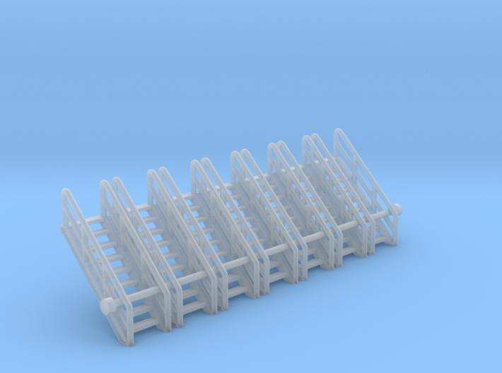 N Scale Stairs 9 (7 pc) 3d printed