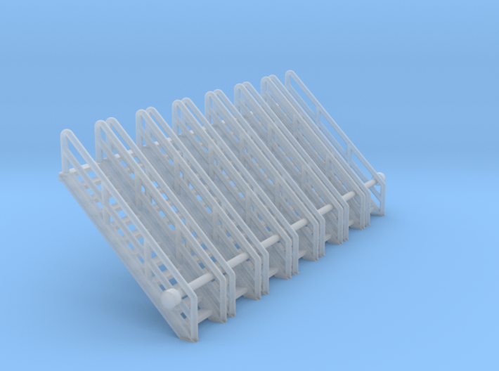 N Scale Stairs 12 (7pc) 3d printed