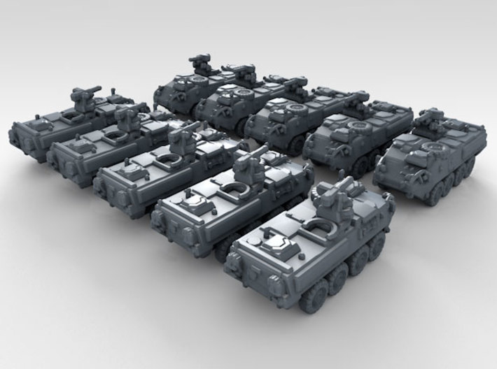 1/700 US Army M1126 Stryker ICV 10 3d printed 3d render showing product detail
