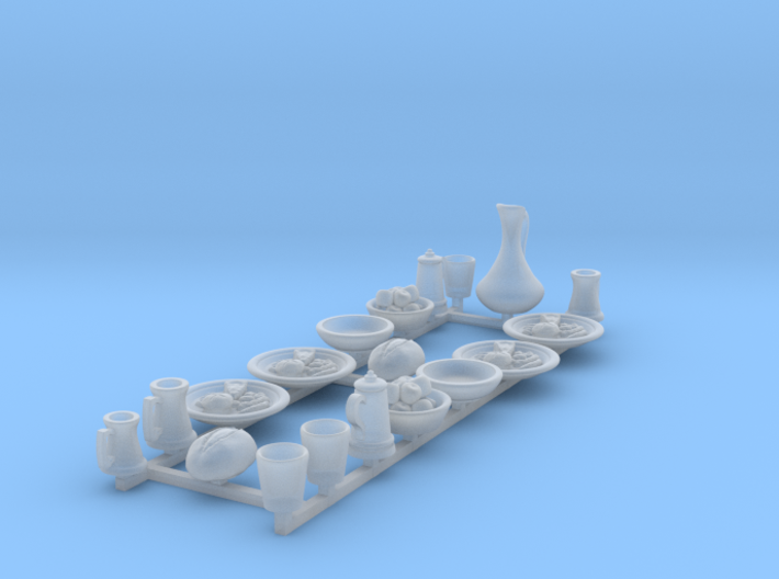 Feastware: Plates with food: V1 3d printed