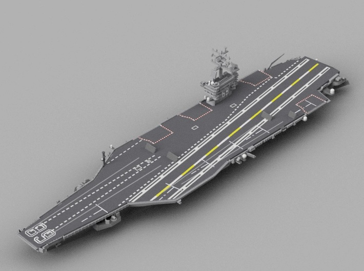 1/2000 USS Nimitz 3d printed Computer software render.The actual model is not full color.