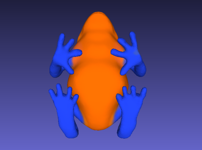 Orange Poison Dart Frog 3d printed