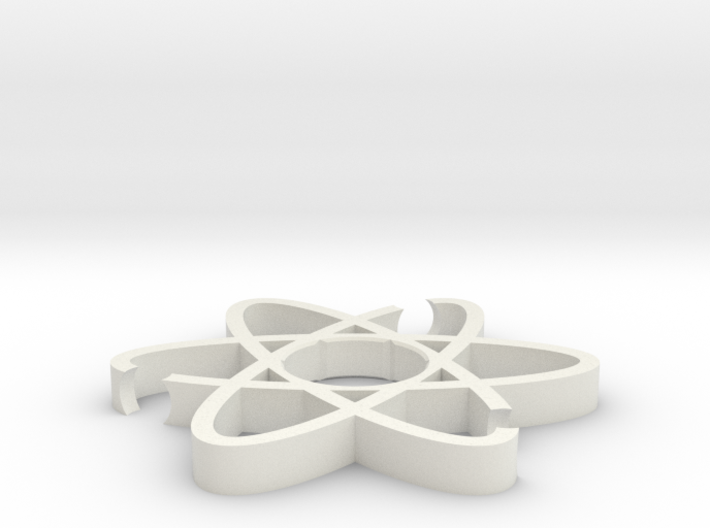 ATOM Fidget Spinner body 3d printed