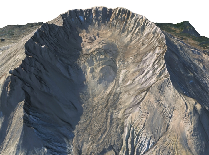 """Mount St. Helens Map: 6"""" 3d printed"""