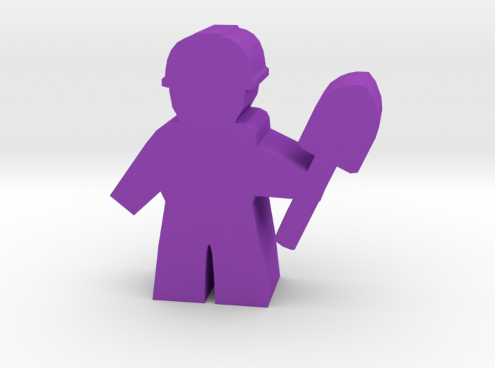Game Piece, City Worker with shovel 3d printed