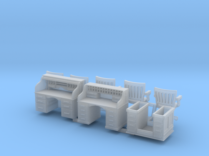 Rolltop And Chair HO Scale 3d printed