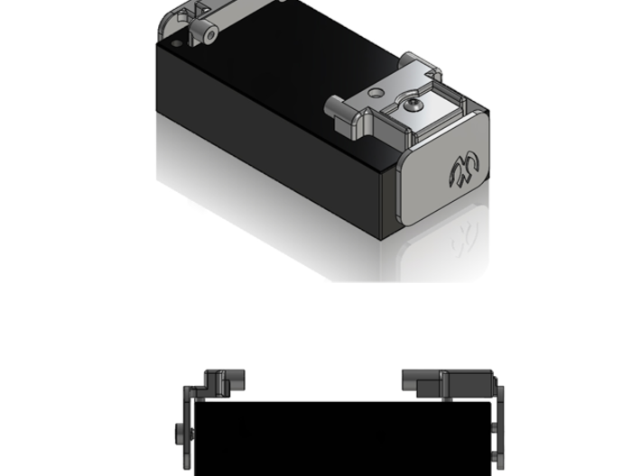 M05 Battery Mount Offset (Left Side) 3d printed Right Side and Cap sold separately