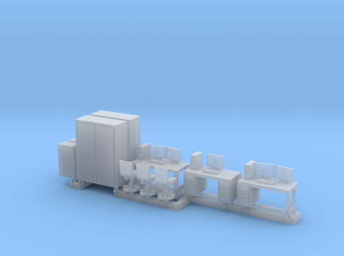 N Scale Office Furniture 3d printed