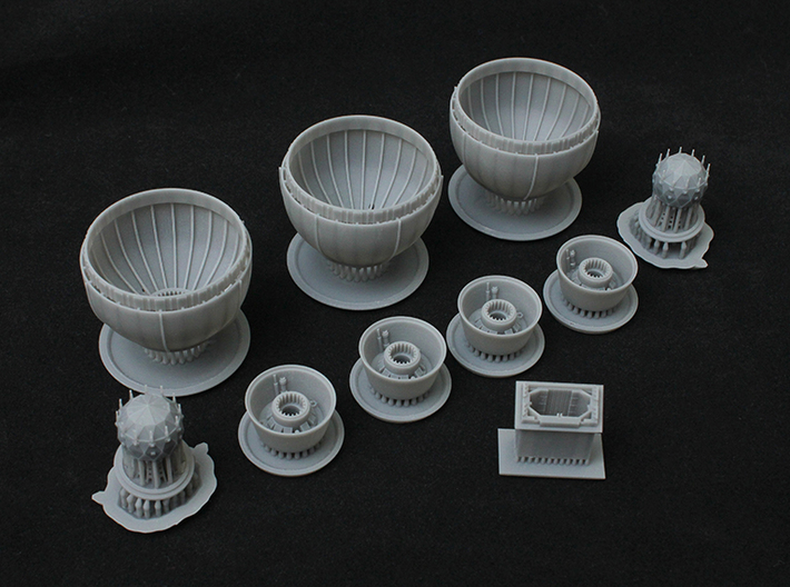Bigger Engine Bell for 1/2700 Zvezda Imperial Clas 3d printed