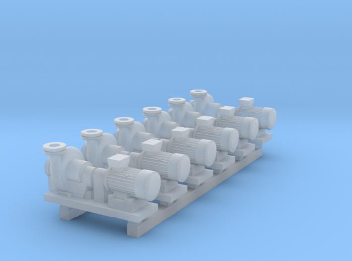 Centrifugal Pump #2 (Size 2 6pc) 3d printed