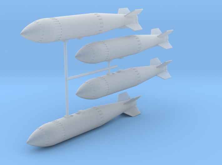 WE.177A Nuclear Weapon (quad pack) 3d printed