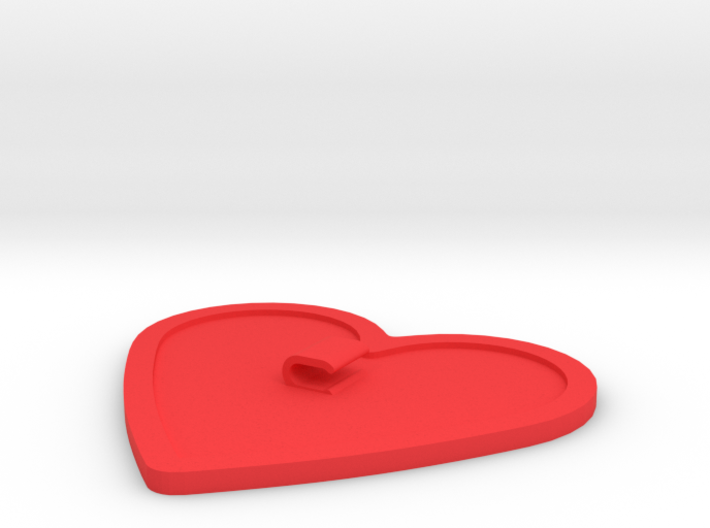 Heart-Shaped Cord Holder 3d printed