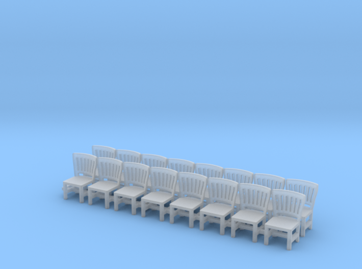 HO SCALE Detailed Chairs X16 3d printed