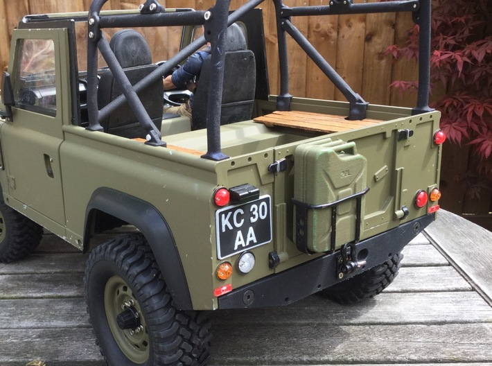 Raffee Land Rover Rear Body Mount (SCX10) 3d printed