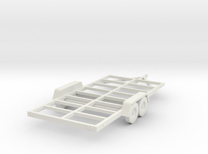 Trailer Frame HO Scale 3d printed