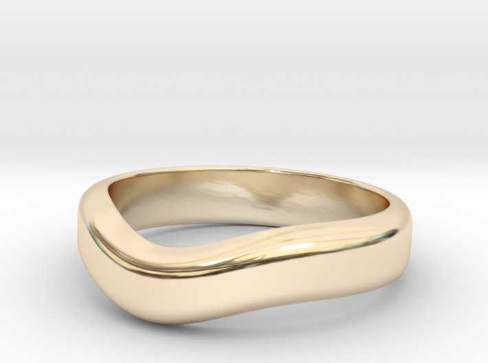Wedding Wave Band 3d printed