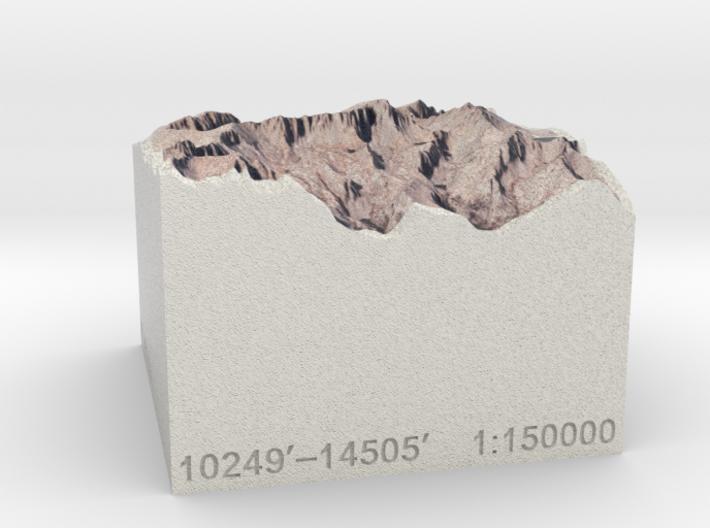 Mt. Whitney, California, 1:150000 Explorer 3d printed