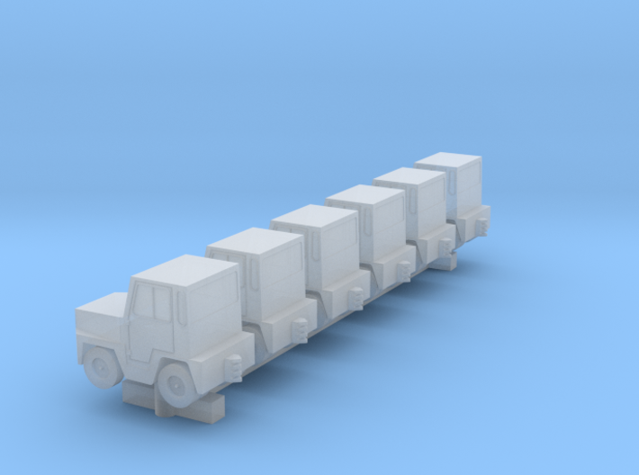 GSE Airport Baggage Tractor 1:400 6pc 3d printed