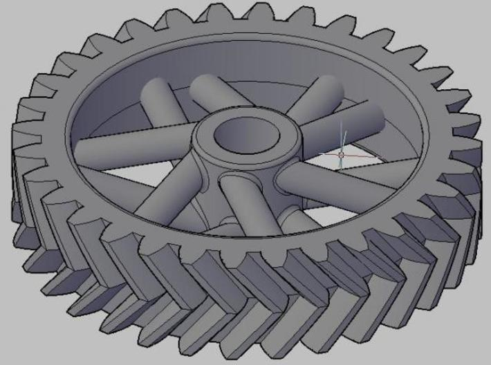Herringbone32 3d printed 32 tooth herringbone gear, just for fun
