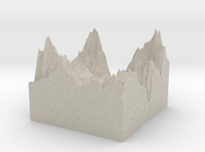 Model of Tignes / Val d'Isere 3d printed