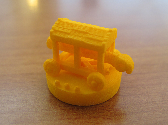 Catan Pieces - Orange City And Knights 3d printed Knight #3 token