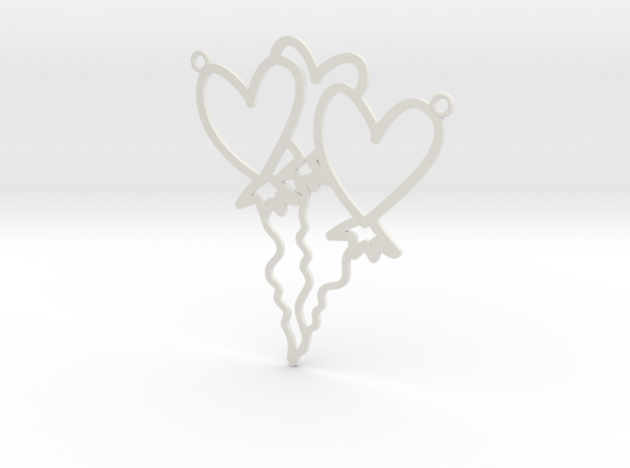 Heart Balloon Necklace! 3d printed