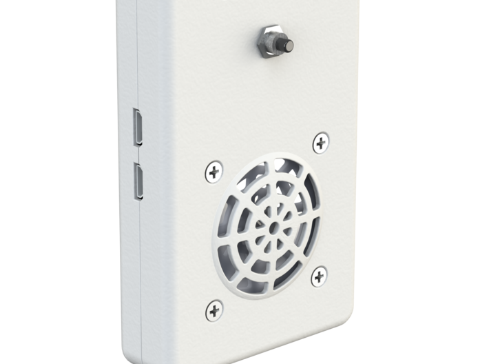 |pipe| connected doorbell: Casing Top 3d printed render from outside