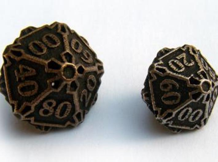 Large Premier Decader Die10 3d printed Compared to the standard-sized Die10 Decader