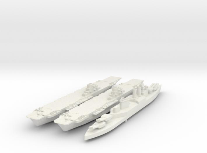 Set of 2 HMS Illustrious and HMS HOOD British navy 3d printed
