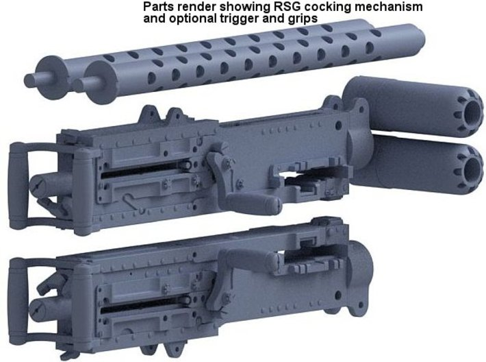 .50 Cal. 32nd AC L/R Feeds, RSG, Grips, Triggers 3d printed