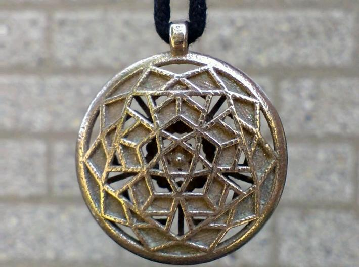 Dodecastar Pendant 3d printed Back