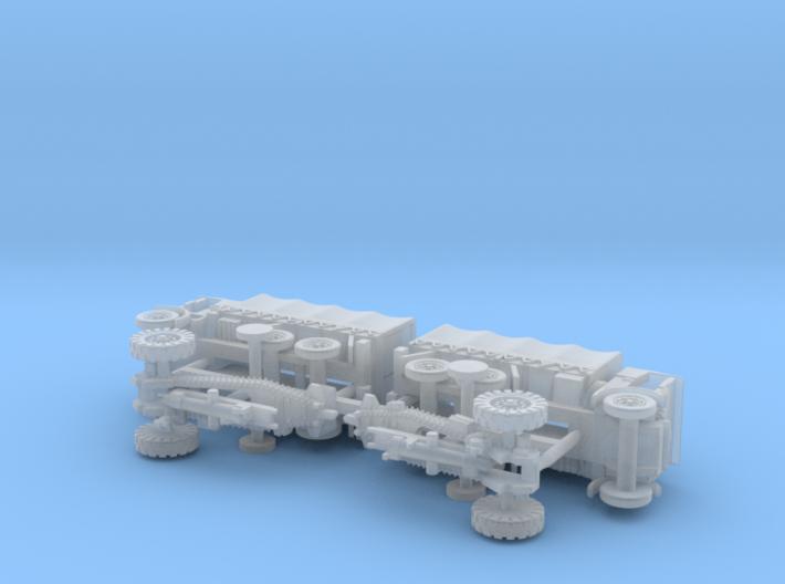 British 6in Howitzer & Leyland Retriever 1/144 3d printed