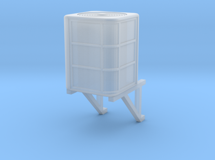 HO Scale Central Air Conditioner With Wall Bracket 3d printed