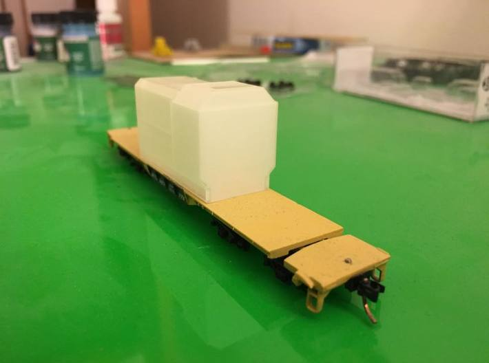 Flatcar Load - Oil Drawworks - Nscale 3d printed Photo by Joe Fehr
