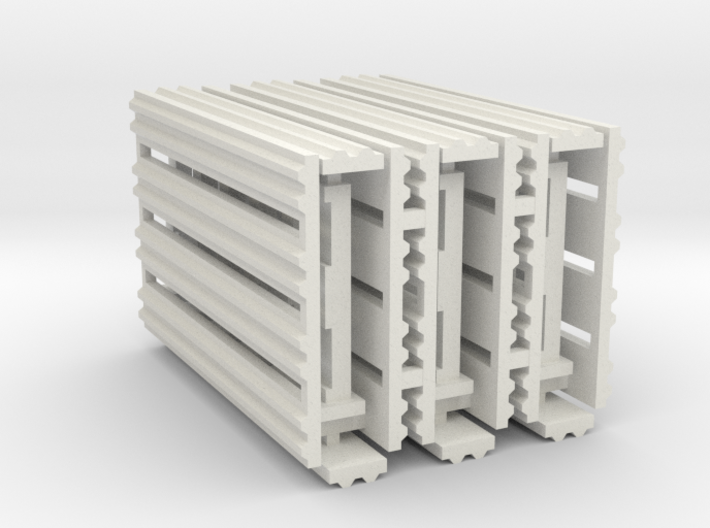 Double Rail System 8 Feet 1-43 Scale 3 Pack 3d printed