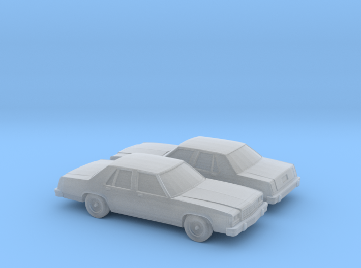 1/160 2X 1989 Ford Crown Victoria 3d printed