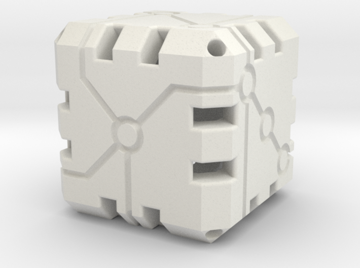 Vertex Dice 48mm Hollow 3d printed