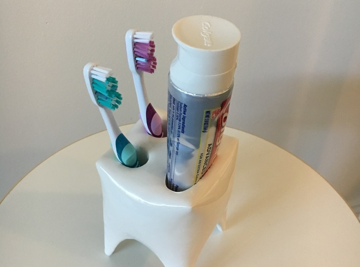 Toothy Toothbrush Holder 3d printed